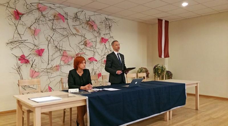 Jānis Bordāns uzstājas ar runu
