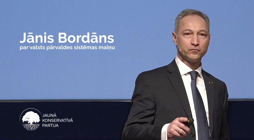 Jānis Bordāns par valsts pārvaldes sistēmas maiņu
