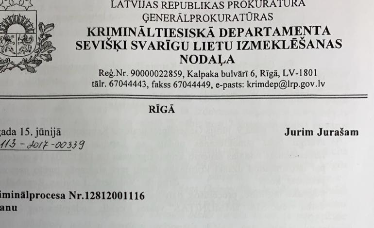 Prokurora Zalužinska lēmums PUBLICĒTS – Viena prokuratūra, divas taisnības?