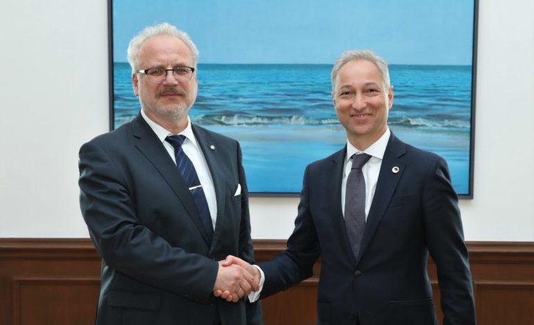 Tieslietu ministrs Jānis Bordāns tiekas ar Valsts prezidentu Egilu Levitu